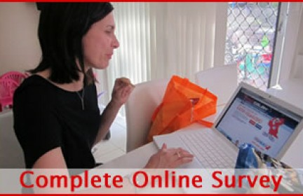 consumer completing online survey